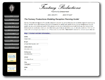 Fantasy productions dj entertainment planning guides fantasy wedding planning guide junglespirit Gallery